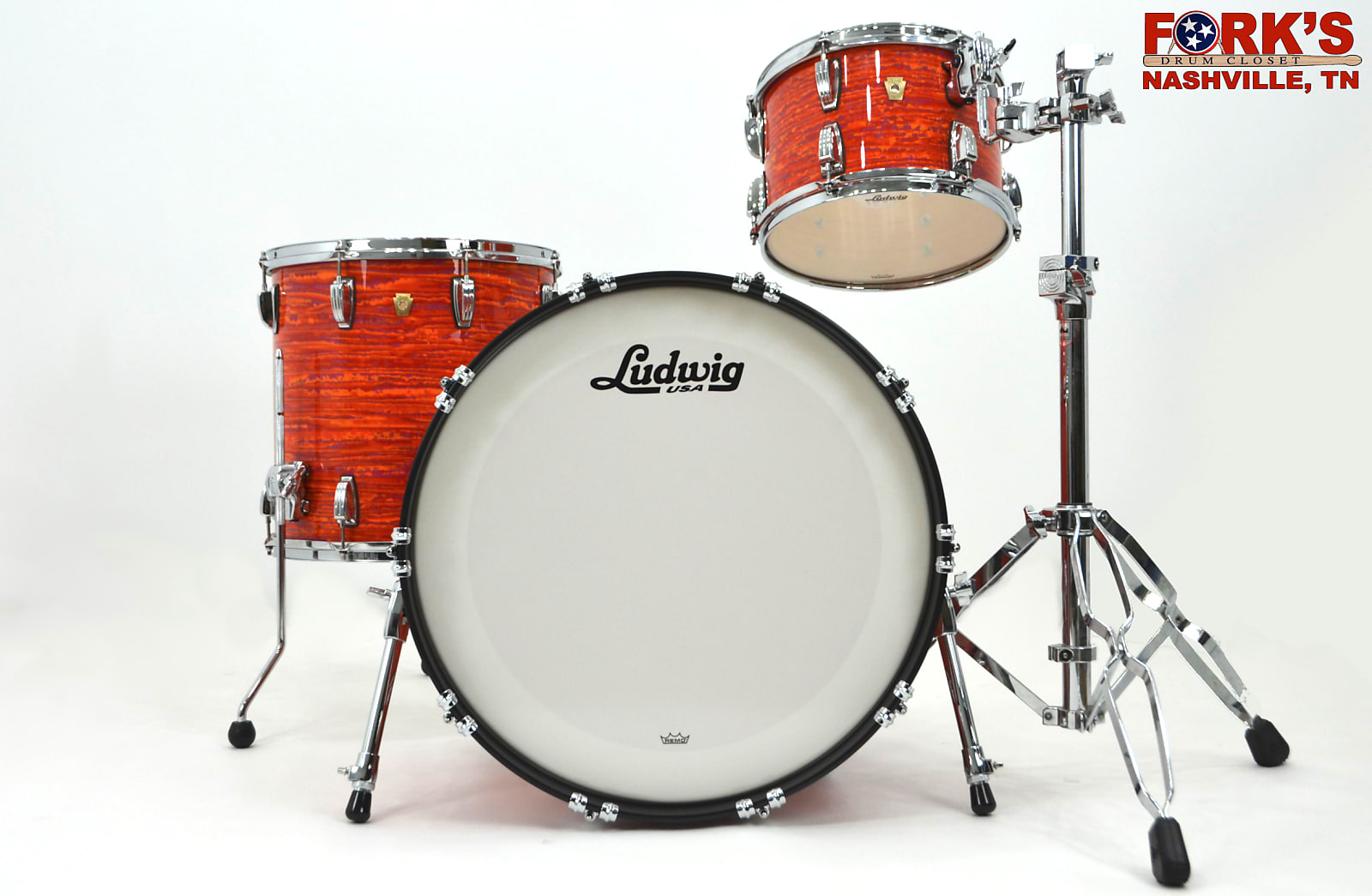 Ludwig Classic Maple 3pc in Mod Orange