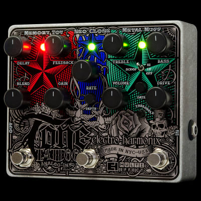 Electro-Harmonix TONE TATTOO Multi-effects pedal: Metal Muff, Neo Clone, Memory Toy, 9.6DC-200 PSU i