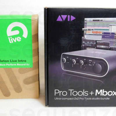 Avid Mbox 3 Mini 2x2 Audio Interface + Ableton Live 8 Intro Software