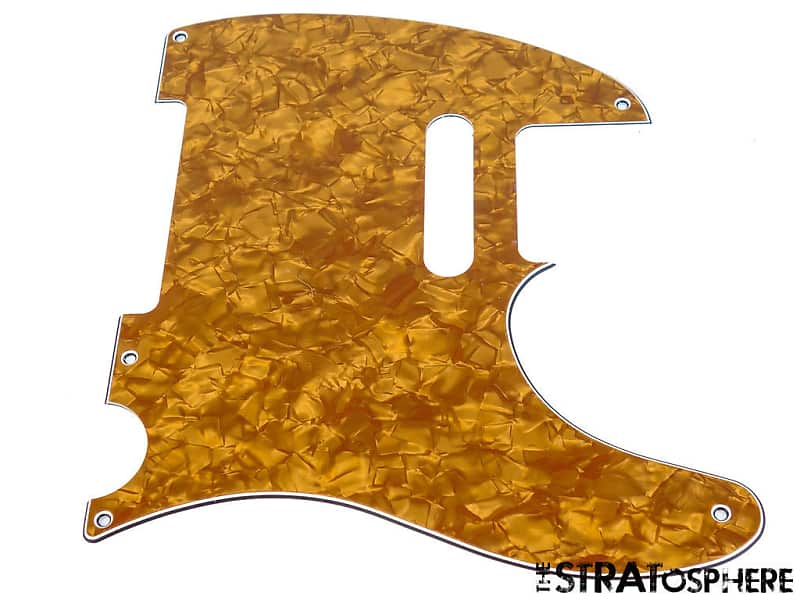 *NEW White Pearloid Esquire PICKGUARD for Fender USA Vintage Tele 3 Ply 5 Hole
