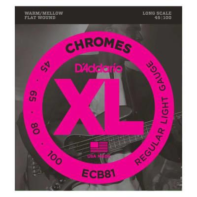 D´Addario Chromes ECB81 Flatwound Bass Strings 45-100