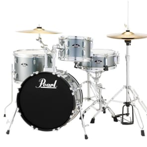 Pearl Roadshow 4 Piece Set With Hardware & Cymbals - Charcoal Metallic