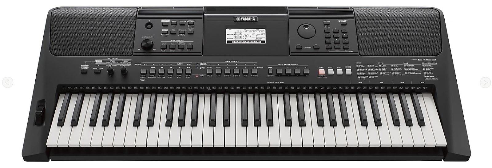 Yamaha PSR-E463 61-Key Portable Keyboard 2019