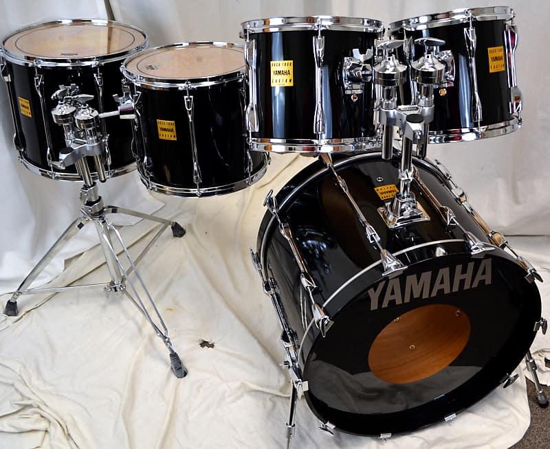 yamaha 22 10 12 14 16 rock tour custom drum set black reverb. Black Bedroom Furniture Sets. Home Design Ideas