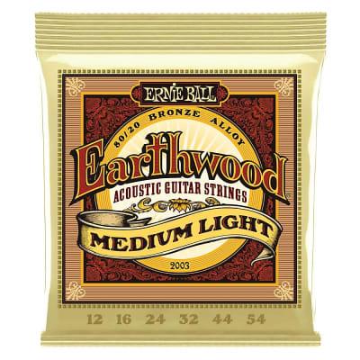 Ernie Ball Earthwood 80/20 Bronze Acoustic Guitar Strings - 12-54 Gauge - Medium Light