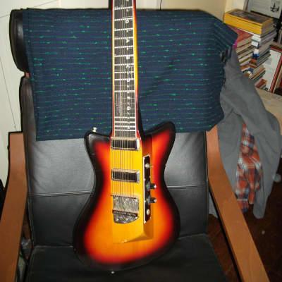 melobar 10 string slant neck 1972 copyright sunburst for sale
