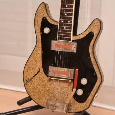 Herrnsdorf Solidbody gold sparkle – 1960s German Vintage Electric Guitar / Gitarre for sale