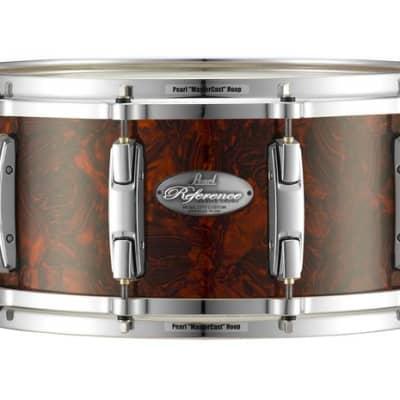 "Pearl Music City Custom 13""x6.5"" Reference Series Snare BURNT ORANGE ABALONE RF1365S/C419"