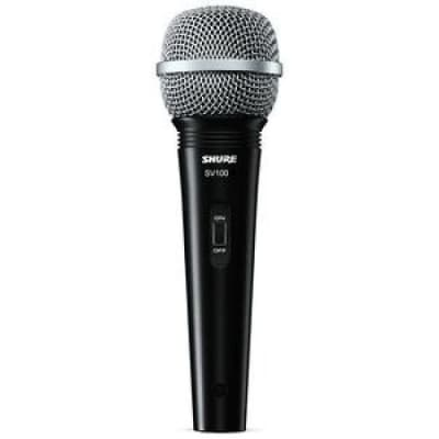 Shure SV100-W Dynamic Cardioid Multi-Purpose Microphone with 15Ft  XLR Cable