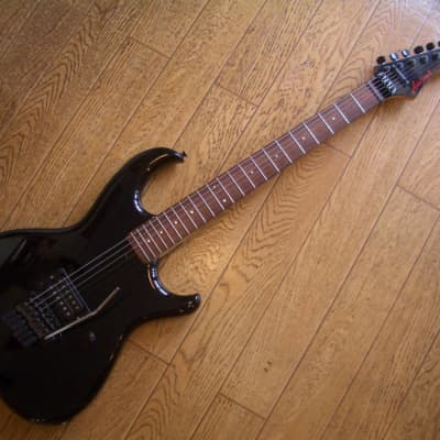 Aria Pro II RS Wildcat 1980s Black with one humbucker for sale