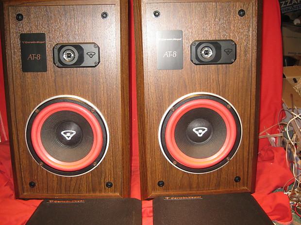 Vintage Cerwin Vega AT 8 Two Way Large Bookshelf Floor Speakers SERVICED