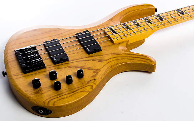 schecter riot 4 session aged natural satin bass guitar reverb