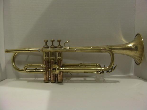 C G  Conn 16B Rosebrook Trumpet 1922 Raw Brass