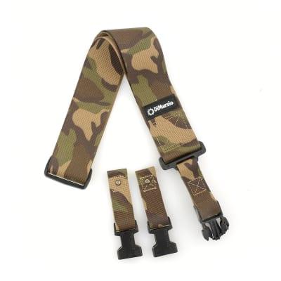 """DiMarzio Cordura Fabric ClipLock Strap Nylon 2"""" Camo"""