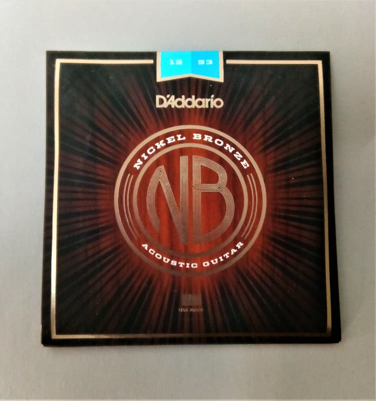 d 39 addario nb1253 nickel bronze acoustic guitar strings reverb. Black Bedroom Furniture Sets. Home Design Ideas