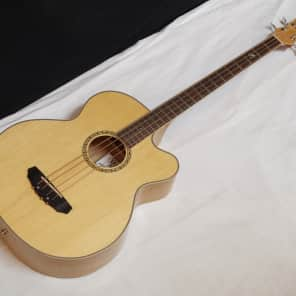 MICHAEL KELLY Firefly 4-string acoustic electric BASS guitar - Natural MKFF4N Natural- blem for sale