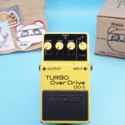 Boss OD-2 Turbo OverDrive | Vintage 1986 Black Label (Made in Japan) | Fast Shipping!