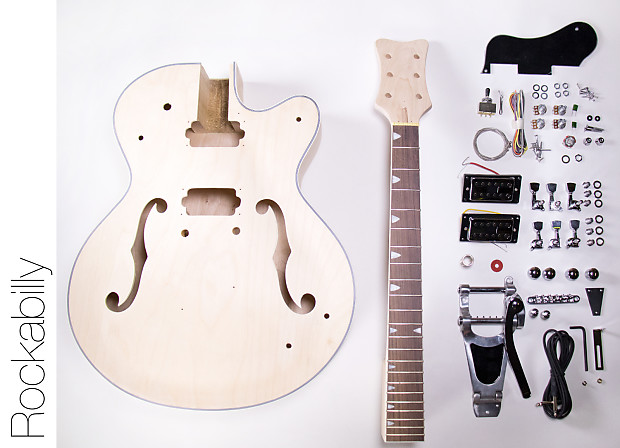 diy electric guitar kit hollow body build your own guitar reverb. Black Bedroom Furniture Sets. Home Design Ideas