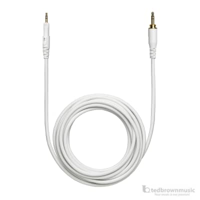 Audio-Technica HP-LC 3m Straight Replacement Cable for M-Series Headphones (White)