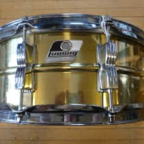 "Ludwig 5x14"" Rocker Bronze Snare 2000s Black & White Badge image"