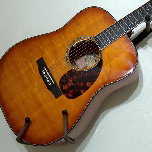 2014 Larrivee D-60 Flamed Maple Bearclaw top  Vine inlay Gloss Iced Tea Burst all around with Anthem image