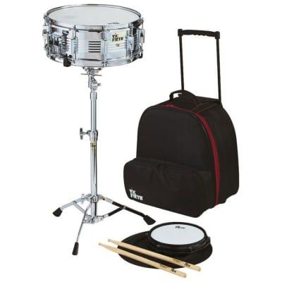 Vic Firth V6806 Traveler Snare Drum Kit with Wheeled Bag