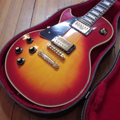 Gibson Les Paul Custom Left-Handed Cherry Sunburst #182322 Norlin-Era w/Gibson Case for sale
