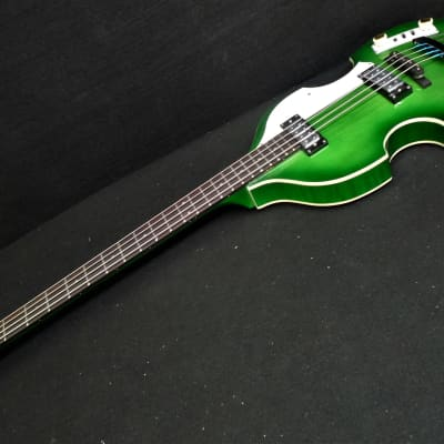 NEW Hofner Ignition PRO Beatle Bass HI-BB-PE-GR Green Burst with Flats & 500/1 style Tea Cup Knobs for sale