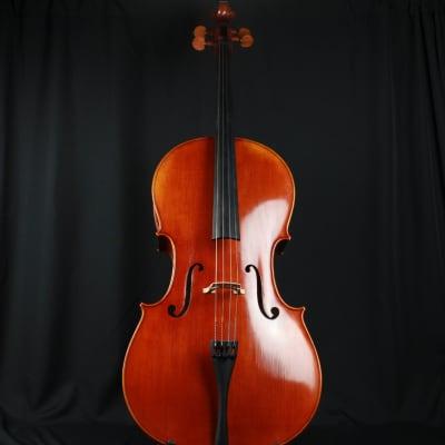 The Luthier Shop Adjusted 4/4 Size Beautiful Cello w/ Fiberglass Blue Case