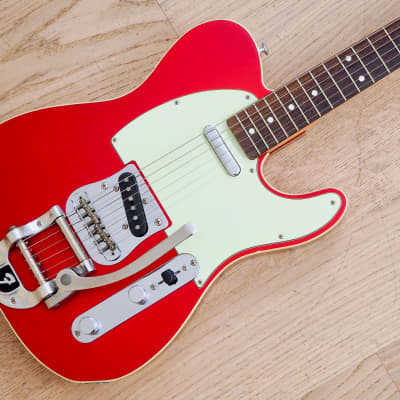 2002 Fender Telecaster Custom '62 Vintage Reissue Candy Apple Red Japan CIJ w/ Bigsby, USA Pickups for sale