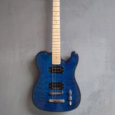 Occhineri Custom Telecaster Deep blue Flame for sale