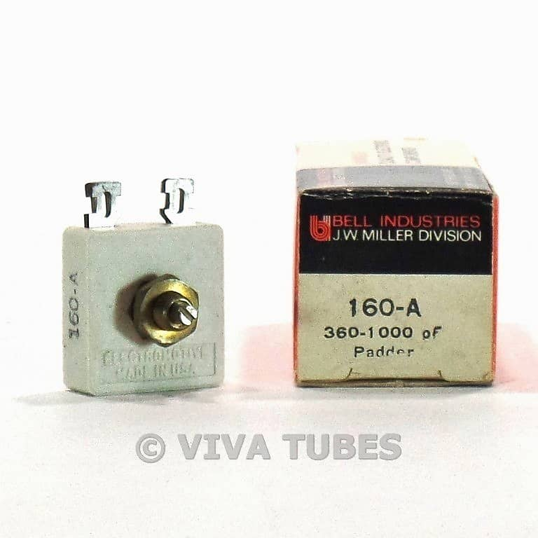 831fc1a8c5d4 NOS NIB Vintage Miller 160-A Tuning Capacitor Padder 360-1000
