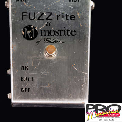 Mosrite FUZZ rite 1966-67 Chrome for sale