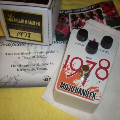 Mojo Hand FX 1978 - Limited Edition OpAmp Big Muff Fuzz - serial number 76