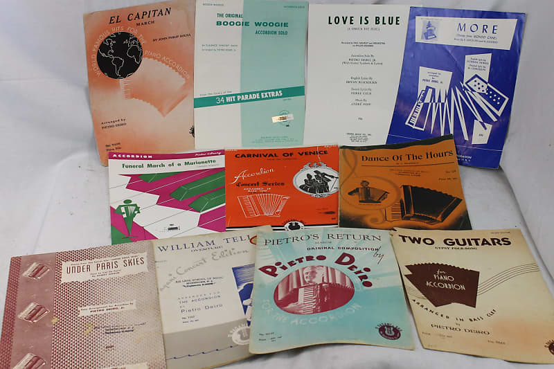 Pietro Deiro Arranged Accordion Sheet Music Lot