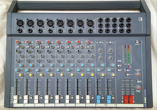 Nieuw Soundcraft Spirit Folio 12x2 Mixer Excellent Condition | Reverb XF-08
