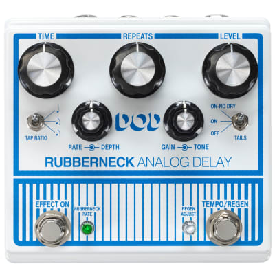 DigiTech DOD Rubberneck Analog Delay Guitar Effects Pedal w/ Tap Tempo for sale