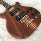 Alembic Stanley Clarke Brown Bass, Flame Walnut, Myrtle Wood, Ebony, LEDs image