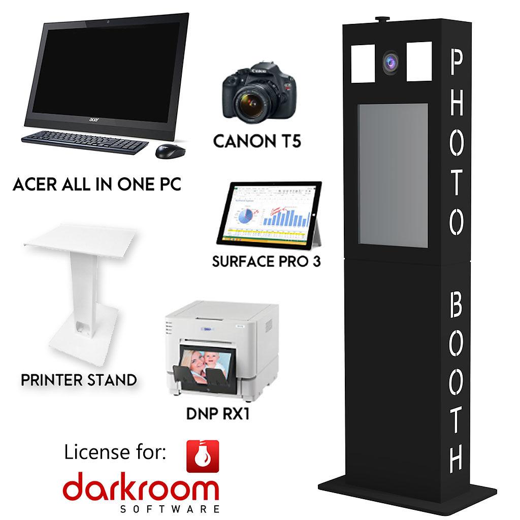 fotokraftwerks diy tower photo booth complete package (black) - made