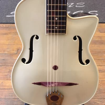 Maccaferri G40 Archtop Guitar 1950's Burgundy and Cream for sale