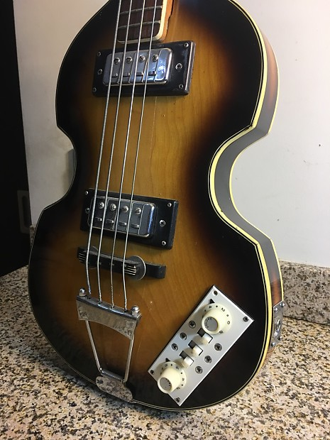 hofner style kingston beatles paul mccartney bass 1960 39 s reverb. Black Bedroom Furniture Sets. Home Design Ideas