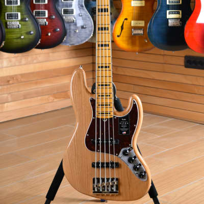Fender American ULTRA Jazz Bass V Maple Neck Natural Aged for sale