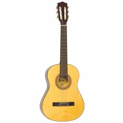 New Lauren LA34 3/4 Size Steel String Classical Acoustic Guitar, Natural for sale