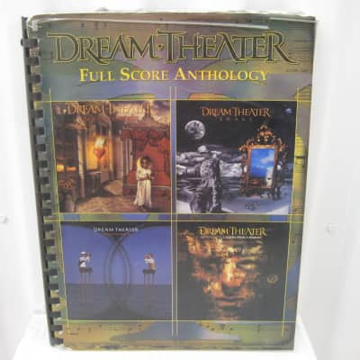 Dream Theater Full Score Anthology (Coil) Sheet Music Song Book Songbook Guitar Tab Tablature