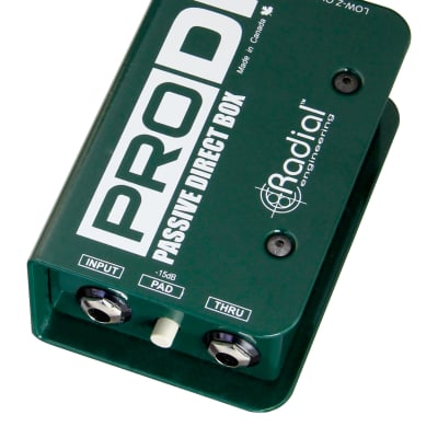 Radial Engineering PRODI Passive DI for High Output Acoustic, Guitar Bass and Keyboards -Restock