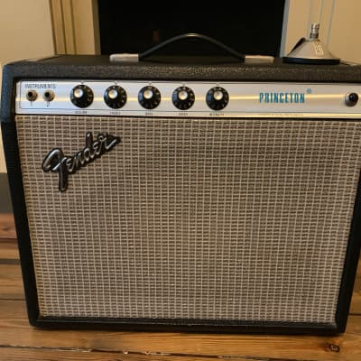 Fender Princeton 1973 Silverface Combo + Vibrato Foot Switch for sale