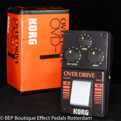 Korg OVD-1 Overdrive 1984 s/n 003464 Japan with rare JRC4558DV op amp for sale