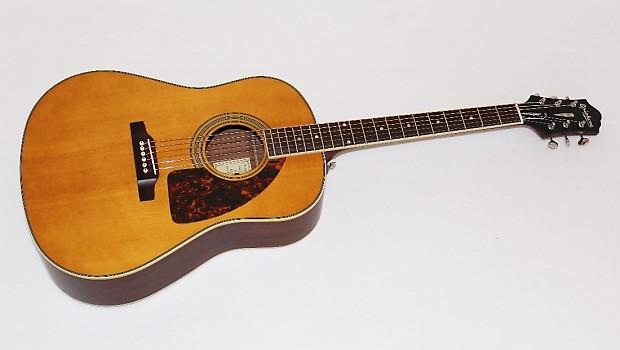 epiphone masterbilt aj 500m advanced jumbo acoustic guitar reverb. Black Bedroom Furniture Sets. Home Design Ideas