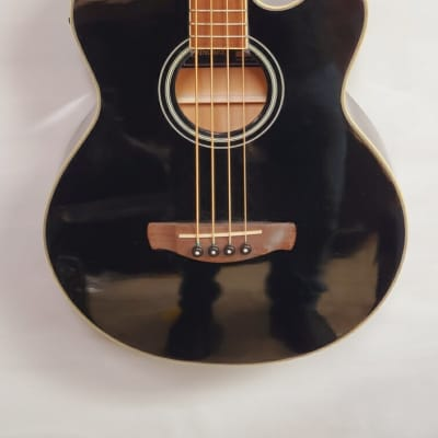Ibanez AEB8E-BK Acoustic 4-String Bass with Electronics Black