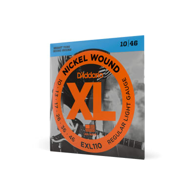 D'Addario EXL110 Nickel Wound Regular Light Electric Guitar Strings 10-46